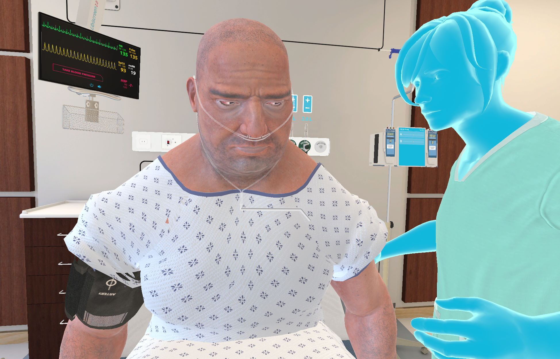 UbiSim Makes Virtual Reality Simulation Practical for Nursing